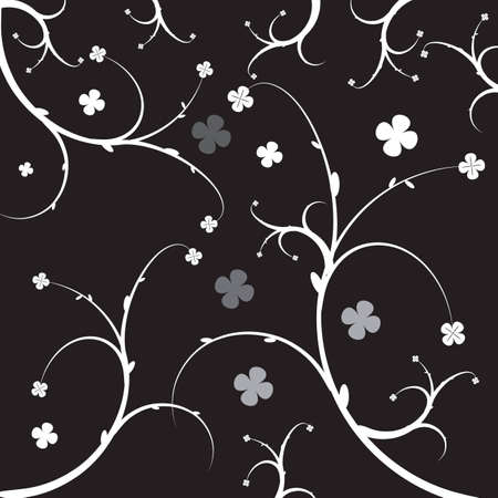 vector graphic of abstract background with floral design
