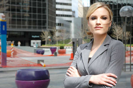 business woman is thinking about the future