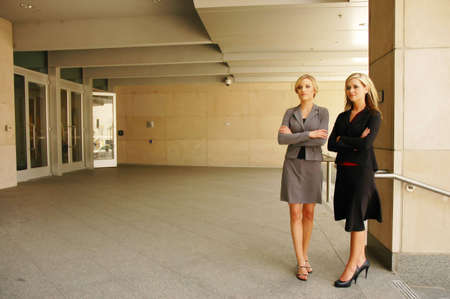 two business woman is thinking about the successful future