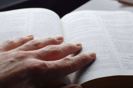 religious person is reading the holly bible Stock Photo - 2217145