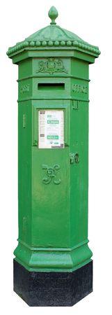 19th century Irish Postbox isolated