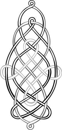 A stylised Celtic Knot comprising three individual knots intertwining