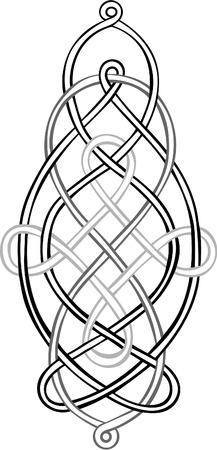 knotting: Una stilizzata Knot Celtic composto da tre singoli nodi intreccio