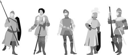 chevalerie: Cinq Chevaliers Illustration (d�finir deux)
