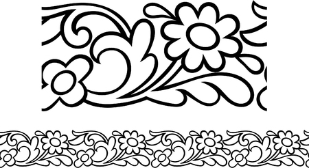 Vector of a stylized Victorian daisy border outline Stock Vector - 7806370