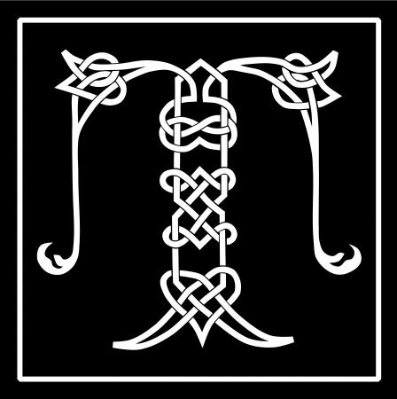 Celta Knot-trabajo mayúscula T