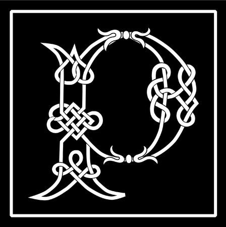 iluminado: Carta de capital de trabajo de nudo celta P