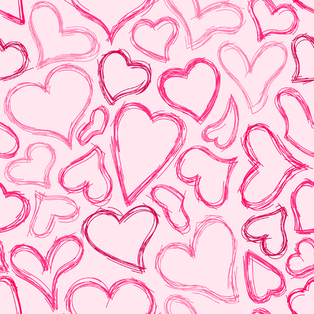 sketched: Seamless Sketched Heart Background