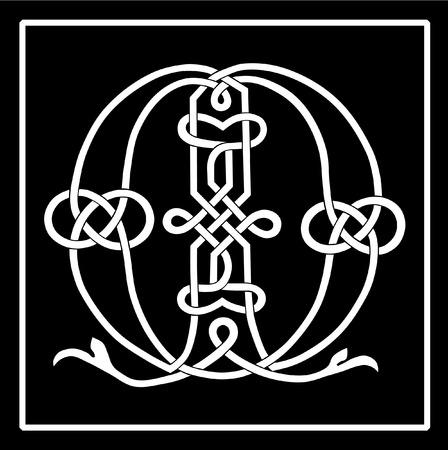 ornamented: Celtic Knot-work Capital Letter M Illustration