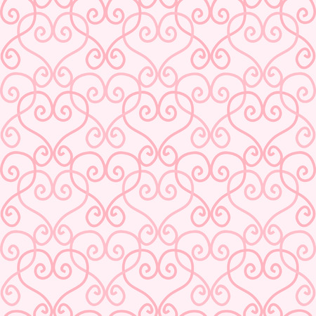 repeated: Pink linked hearts on pink background. Seamless tile for your St Valentine's day designs. Illustration