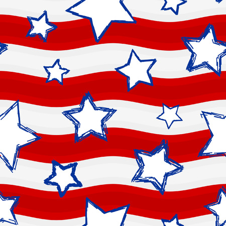 fourth of july: Seamless background with stars and Stripes. Suitable for your Fourth of July Celebrations.