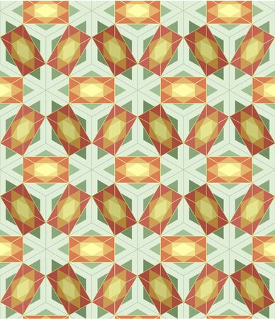 Seamless Background tile with 3d geometric pattern Stock Vector - 9192386