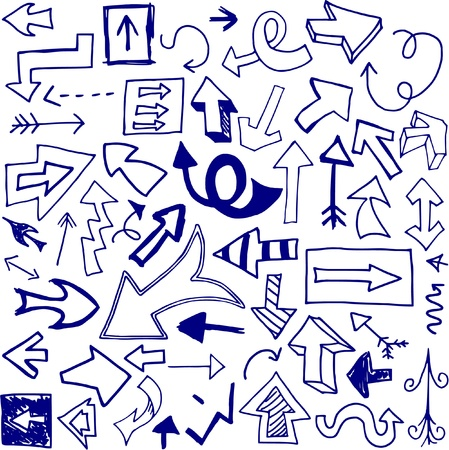 Set of 53 doodled arrows (Set One). Stock Vector - 9301725
