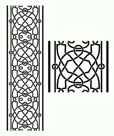 A seamless Celtic Knotwork border.  Stock Vector - 9599086