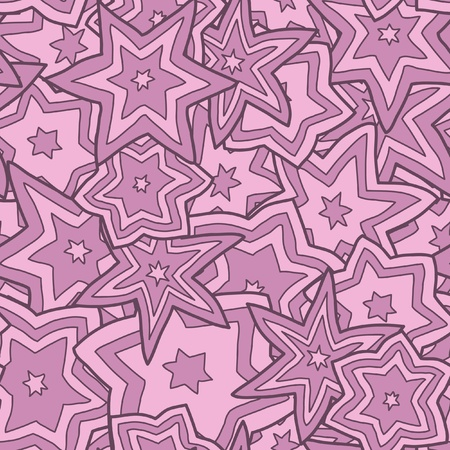 Seamless Pink Star Background