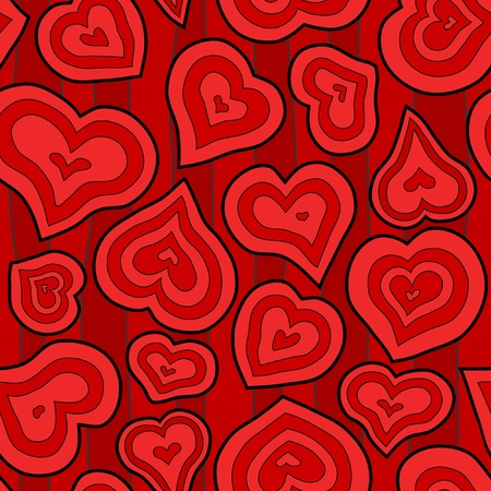 inset: Seamless Inset Heart Background