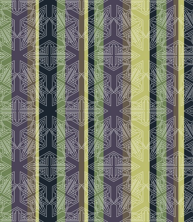 repeated: Seamless striped Background tile with 3d geometric outlined pattern Illustration