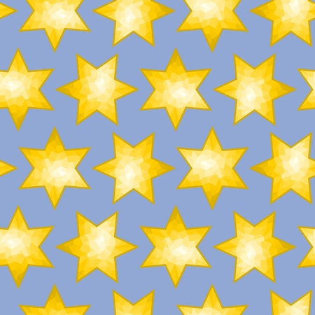 faceted: Seamless Faceted Star Background tile Illustration
