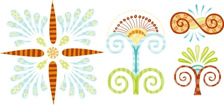 fill: Colorful pattern fill decorative shapes.