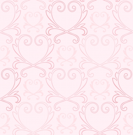 Victorian Style Seamless Heart Background Stock Vector - 13895976