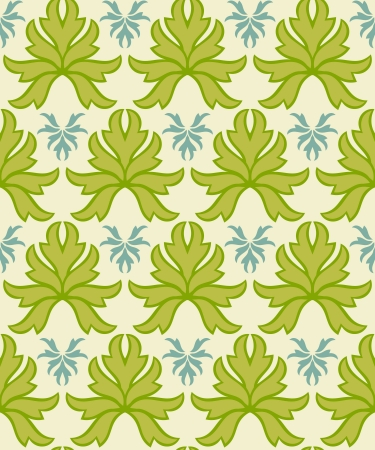 Victorian Style Seamless Leaf Pattern Background Stock Vector - 13895975