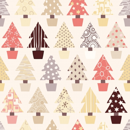 Seamless Christmas Tree Background in natural color scheme Stock Vector - 13895979