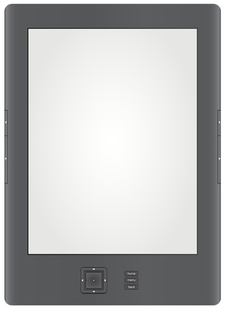 Generic Ereader Illustration. Vector Version. Please note, this file is eps10. Vector
