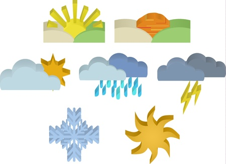 3d Weather Icons Stock Vector - 16702601