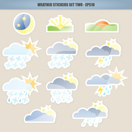 """weather icon"": Weather Icon Stickers – Set Two"