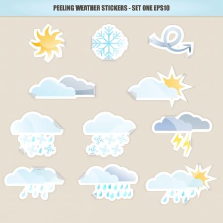peeling: Peeling Weather Stickers - Set One