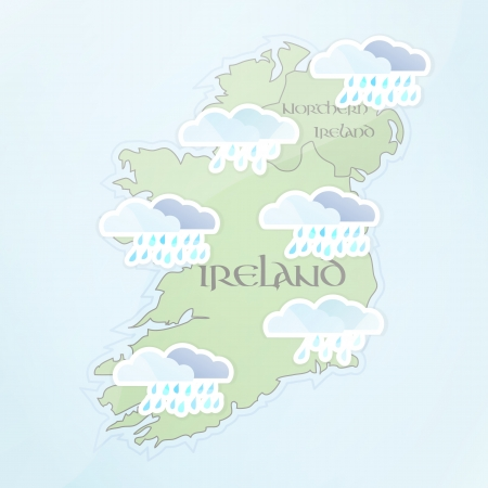 Irish Weather Forecast for July Vector