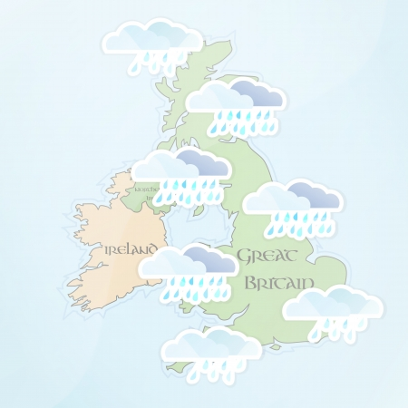 UK Weather Forecast for July Vector