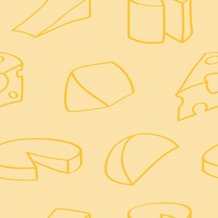 wensleydale: Cartoon Cheese Seamless Background