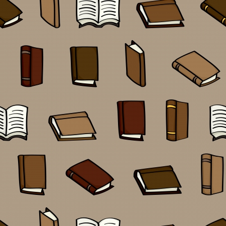 원활한 배경 타일 가죽 덮여 만화 책