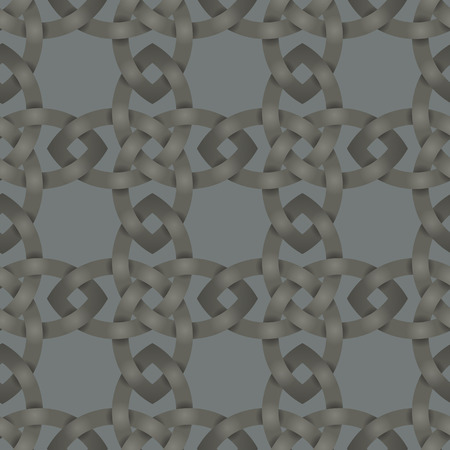 knot work: Seamless background tile with an intertwining Celtic Knot work pattern.