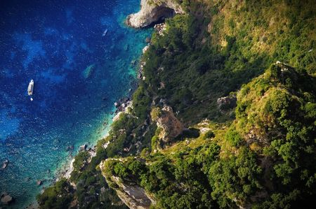 Overlooking a beach in Capri Stock Photo - 2517288