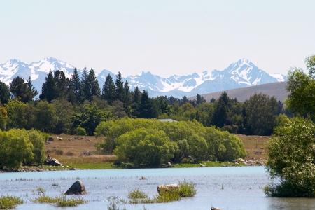 Lake Tekapo with Southern Alps photo