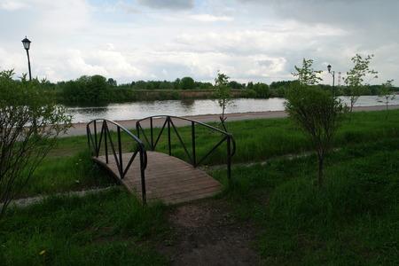 somewhere: A small bridge somewhere in Kolomenskoye, Moscow, Russia