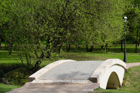 A small bridge in Tsaritsyno park, Moscow, Russia