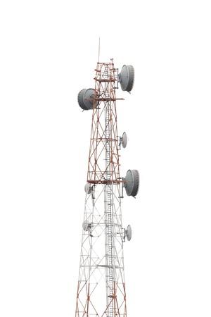 Tour de télécommunication téléphone portable sur blanc technique isolat fond utilisation de DICUT à être isolé