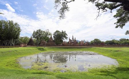 historical: Sukhothai Historical Park,Thailand Stock Photo
