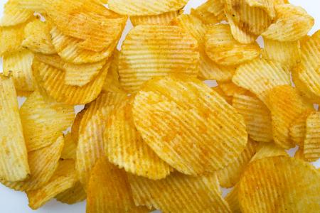 Potato chips isolated on white background Reklamní fotografie