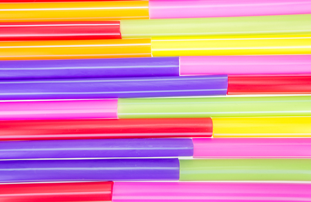 rainbow cocktail: Abstract colorful image showing of drinking straws