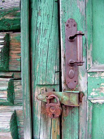 An old house door lock