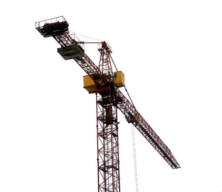 A construction crane, isolated