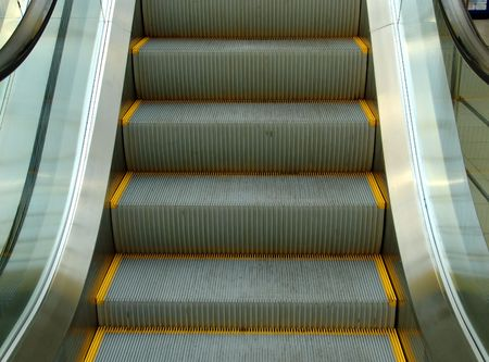 An escalator in a trade building Stock Photo - 887150