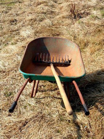 A wheelbarrow with a garden tool Stock Photo - 887152
