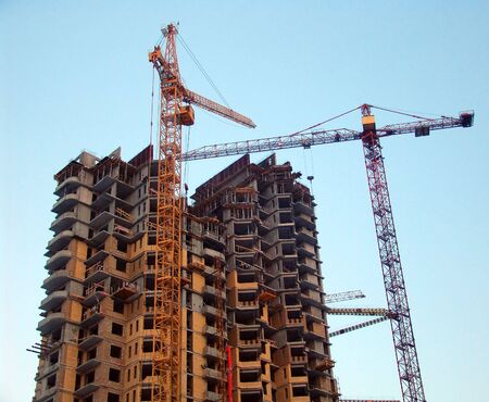 A high building under construction half built Stock Photo - 1770970