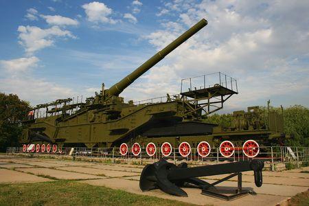 A Big Bertha like huge railroad cannon