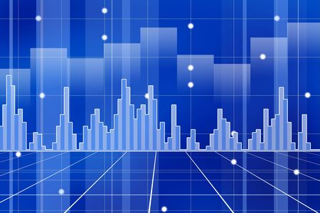 Business and stock market chart concept with various graphs going up and down Stock Photo - 6991360